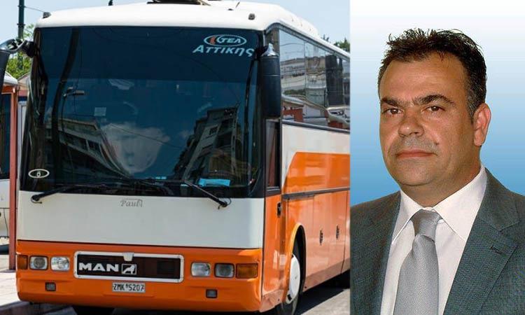 Φ. Αλεξόπουλος: Απαράδεκτη η απόφαση των ΚΤΕΛ Αττικής να καταργήσουν την έκπτωση στα εισιτήρια μαθητών από τους Δήμους της Ανατ. Αττικής