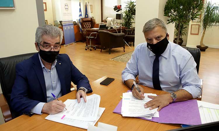 Προγραμματική Σύμβαση ύψους 3,5 εκατ. ευρώ για την αποκατάσταση ζημιών στην Κινέτα υπέγραψε ο Γ. Πατούλης