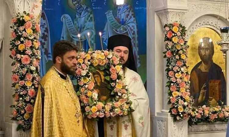 Η Τιμία Κάρα του Αγίου Ιερομάρτυρος Κυπριανού στον Ι.Ν. Αγίας Ματρώνας Ν. Ερυθραίας