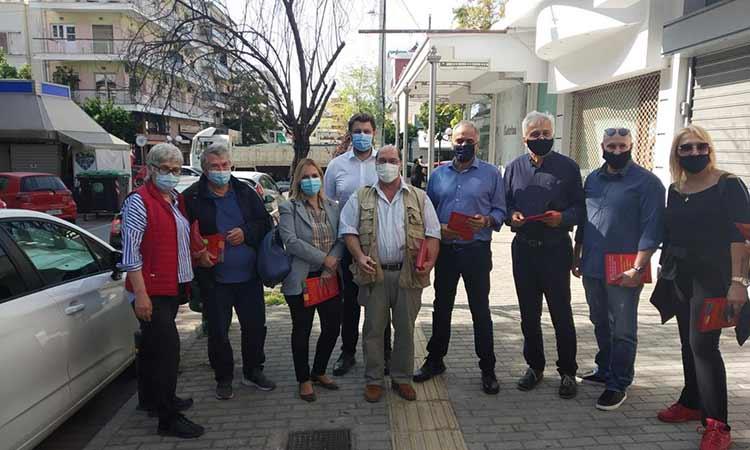 Επίσκεψη στην εμπορική αγορά Ν. Ιωνίας πραγματοποίησαν οι Κ. Ζαχαριάδης, Π. Σκουρλέτης και Δ. Χατζησωκράτης