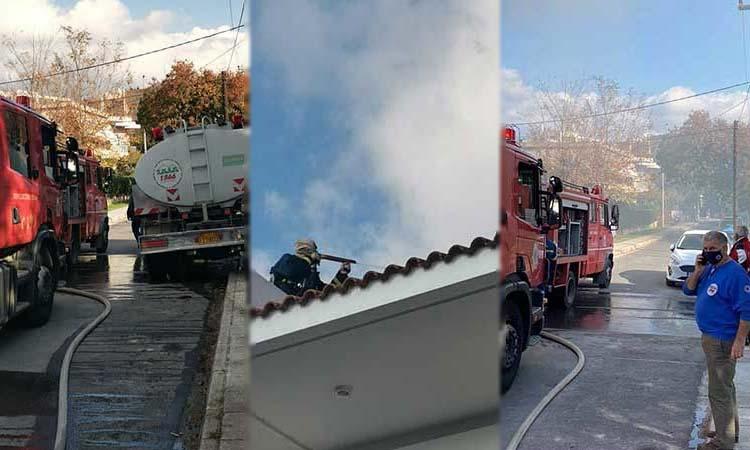 Σοβαρές υλικές ζημιές από φωτιά που ξέσπασε σε διαμέρισμα στα Μελίσσια