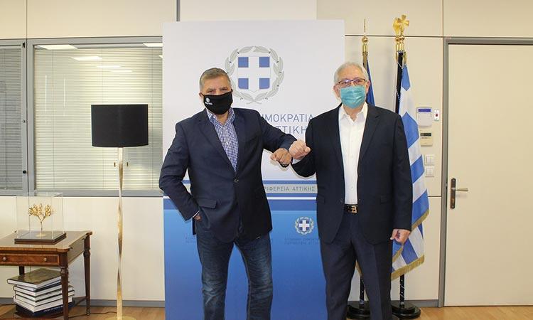 Για την πορεία υλοποίησης έργων της Περιφέρειας Αττικής στον Δήμο Αμαρουσίου συζήτησαν Γ. Πατούλης και Θ. Αμπατζόγλου