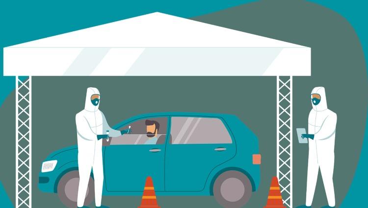 Αναβολή της δράσης των drive through covid tests στο Ηράκλειο λόγω βροχής