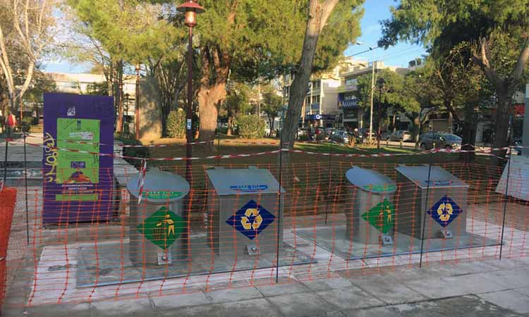 Οι δύο πρώτες Πράσινες Γωνιές Ανακύκλωσης υπογειοποιημένων κάδων στα Βριλήσσια
