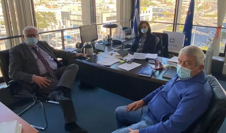 Συνάντηση εργασίας με Λ. Κεφαλογιάννη είχε ο αντιδήμαρχος Λυκόβρυσης-Πεύκης Π. Ιωάννου