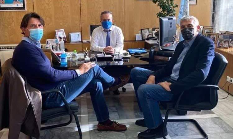 Συνάντηση Ηλ. Αποστολόπουλου με Π. Φασούλα και Ευθ. Ρεντζιά