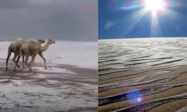 Χιόνισε στη Σαχάρα – Κάτω από τους μηδέν βαθμούς Κελσίου η θερμοκρασία