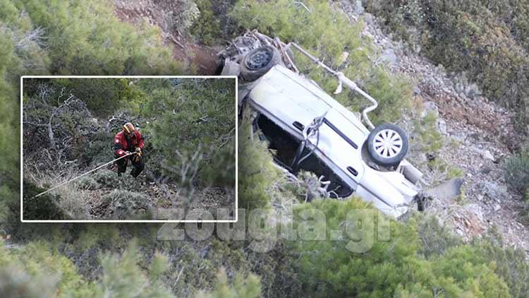 Θρίλερ στην Κερατέα με όχημα που έπεσε σε γκρεμό – Νεκρός ανασύρθηκε ο οδηγός