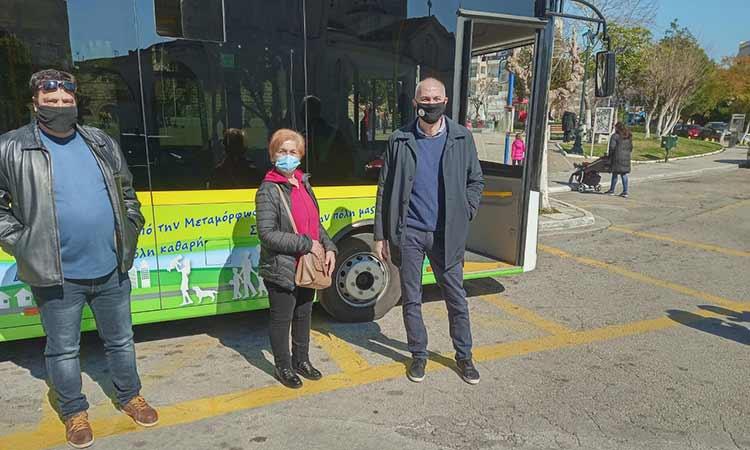 Νέο λεωφορείο Δημοτικής Συγκοινωνίας στους δρόμους της Μεταμόρφωσης