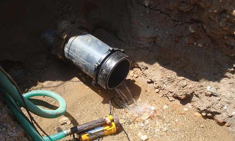Βλάβη σε αγωγό ύδρευσης της Ν. Ερυθραίας