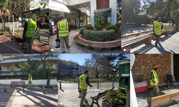 Συνεχίζονται οι απολυμάνσεις δημόσιων χώρων στον Δήμο Κηφισιάς