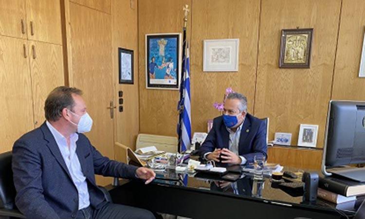 Συνάντηση με τον νέο διοικητή Α.Τ. Παπάγου-Χολαργού είχε ο δήμαρχος Ηλίας Αποστολόπουλος