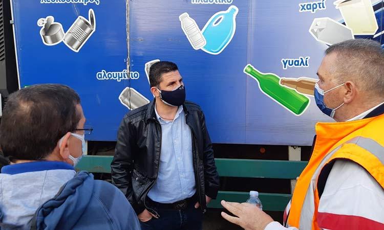 Επίσκεψη των ΑΛΛΑΖΟΥΜΕ σε αμαξοστάσιο, Κοινωνικό Μαγειρείο Δήμου Αγ. Παρασκευής και Σύλλογο «Αλληλεγγύη» ενόψει Πάσχα
