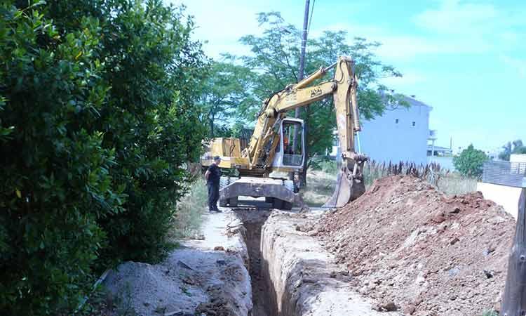 Ολοκληρώθηκε η κατασκευή αγωγού ακαθάρτων επί της οδού Αγ. Τριάδος στη Ν. Κηφισιά