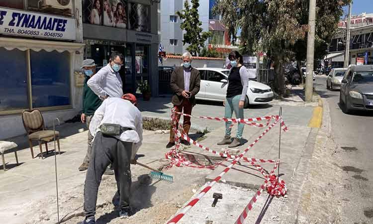 Ξεκίνησε η ανακατασκευή και συντήρηση πεζοδρομίων στον Δήμο Πεντέλης