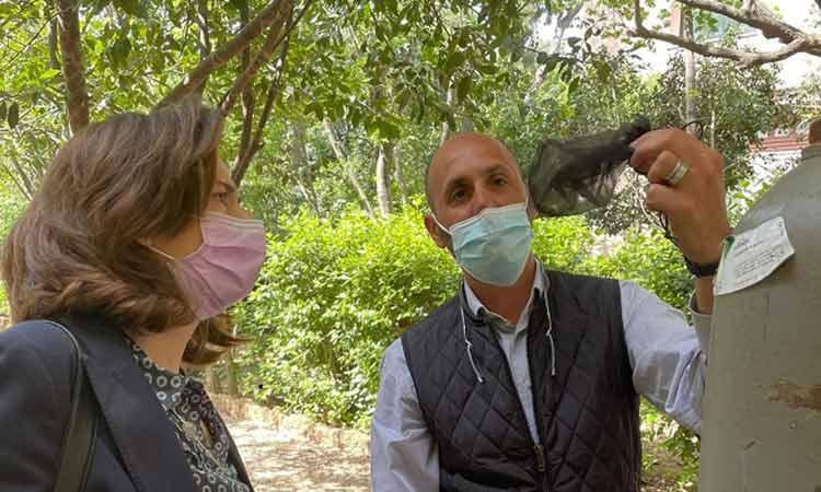 Eνημέρωση για την καταπολέμηση των κουνουπιών έλαβε η Λ. Κεφαλογιάννη στο Μπενάκειο Φυτολογικό Ινστιτούτο