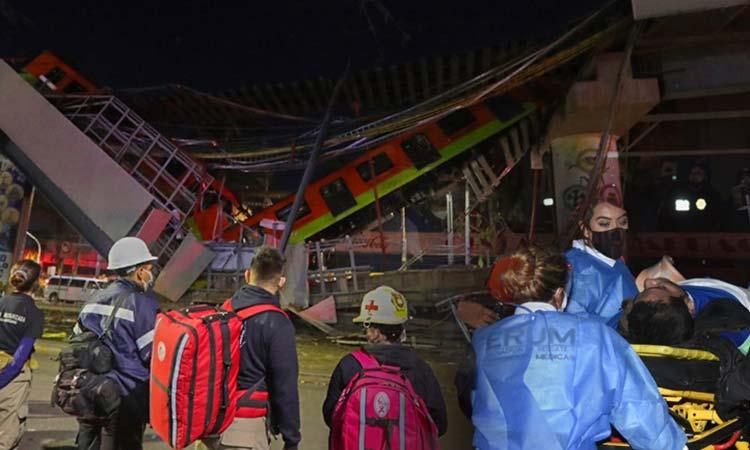 Τραγωδία στο Μεξικό: Κατάρρευση γέφυρας σε γραμμή του μετρό – 20 νεκροί