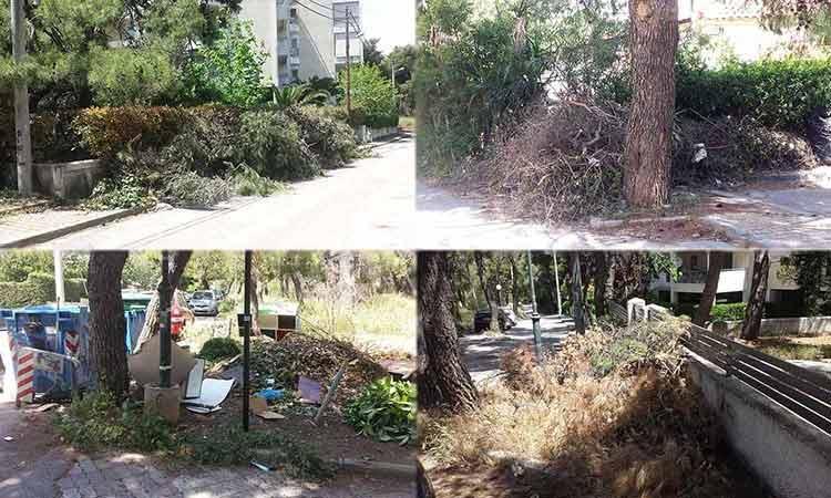 Κάτοικοι προς Δήμο: Θα καούμε ζωντανοί στην Πεύκη – Μαζέψτε τα «βουνά» από τα κλαδιά