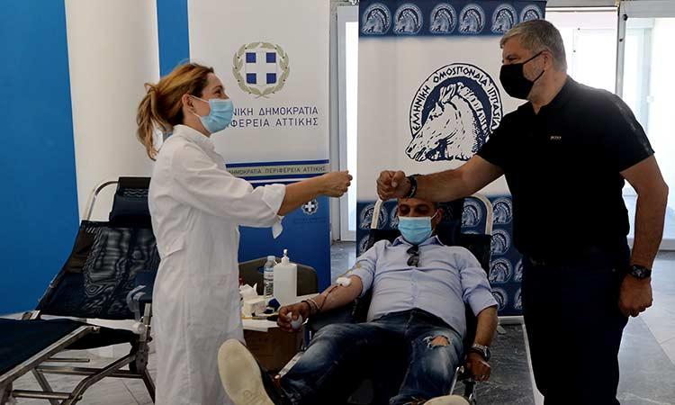Μεγάλη η ανταπόκριση στην αιμοδοσία στο Ολυμπιακό Κέντρο Ιππασίας, που διοργάνωσαν ΙΣΑ και «Όλοι Μαζί Μπορούμε»