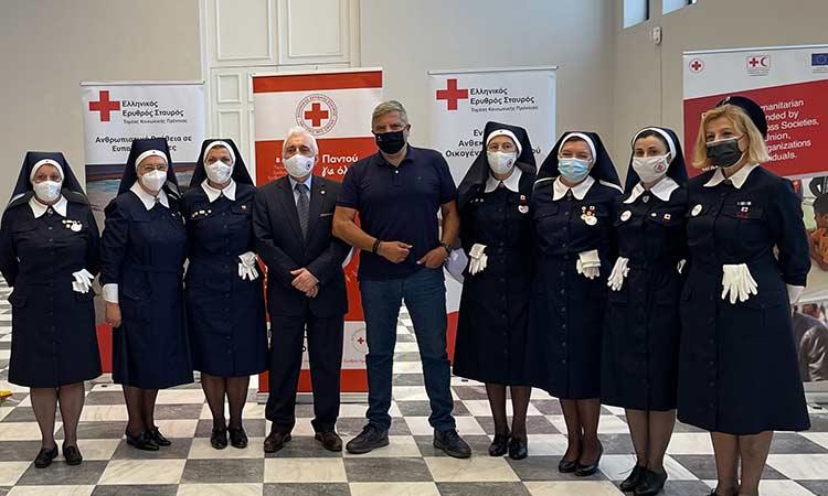 Στην εορταστική εκδήλωση για τα 144 χρόνια προσφοράς του Ελληνικού Ερυθρού Σταυρού ο περιφερειάρχης Αττικής