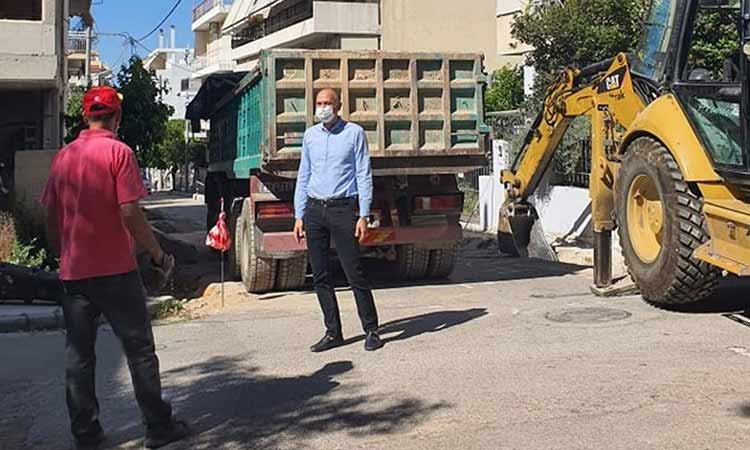 Ο Δήμος Μεταμόρφωσης συνεχίζει την επέκταση και αναβάθμιση πεζοδρομίων της πόλης