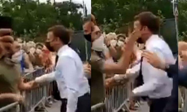 Πολίτης χαστουκίζει τον Μακρόν μπροστά στις κάμερες – Βίντεο ντοκουμέντο