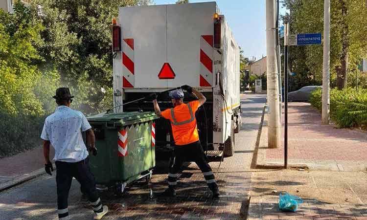 Πλύσεις κάδων απορριμμάτων στον Δήμο Λυκόβρυσης-Πεύκης