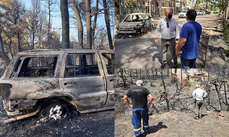Τις περιοχές που έπληξε η φωτιά στον Διόνυσο επιθεώρησε ο δήμαρχος Γ. Καλαφατέλης – Οι δεσμεύσεις του προς τους κατοίκους