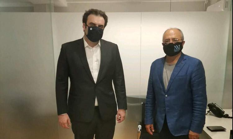 Ν. Μπάμπαλος και Κ. Πιερρακάκης συζήτησαν για την ενίσχυση της ψηφιακής εξυπηρέτησης των Ηρακλειωτών