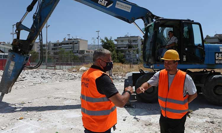 Τα έργα υποδομών και αναπλάσεων στη Ν. Σμύρνη επισκέφθηκε ο περιφερειάρχης Αττικής