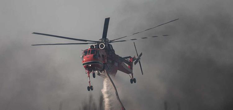 Φωτιά στην Κερατέα, στην περιοχή Κακιά Θάλασσα