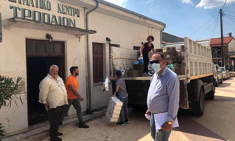 Παραδόθηκε στον Δήμο Γορτυνίας η βοήθεια που συγκεντρώθηκε στη Ν. Ιωνία για τους πυρόπληκτους συνανθρώπους μας