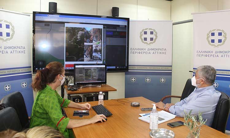 Η Περιφέρεια Αττικής παρέλαβε μελέτη για πιθανούς πλημμυρικούς κινδύνους στην υδρολογική λεκάνη Αιγειρουσών-Αλεποχωρίου