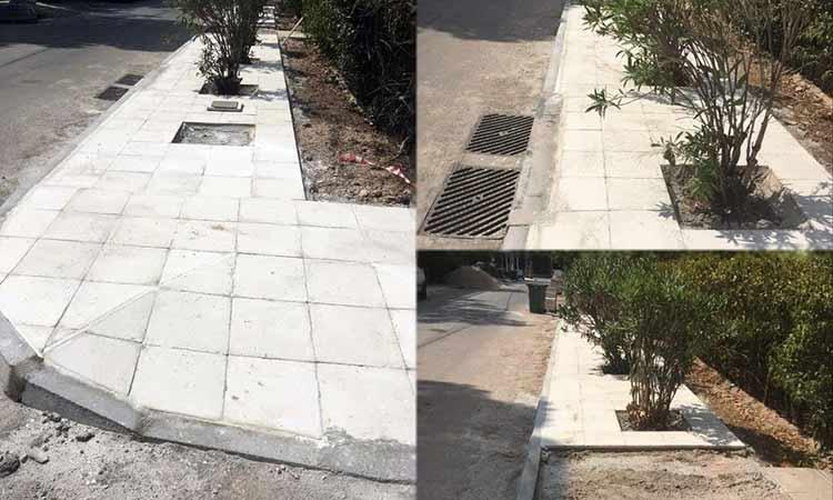 Πεζοδρόμια για δένδρα και φυτά, αλλά όχι για πεζούς στην Κηφισιά!