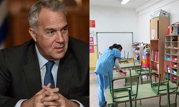 Μ. Βορίδης: Καλύτερη από ποτέ η καθαριότητα στα σχολεία