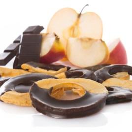 Apfelringli mit dunkler Schoggi
