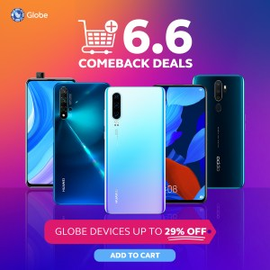 Globe offers awesome discounts at the 6.6 Comeback Deals