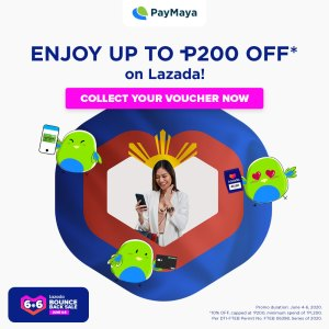 Use PayMaya to get the best deals at the Lazada 6.6 Bounce Back Sale and enjoy up to P200 off