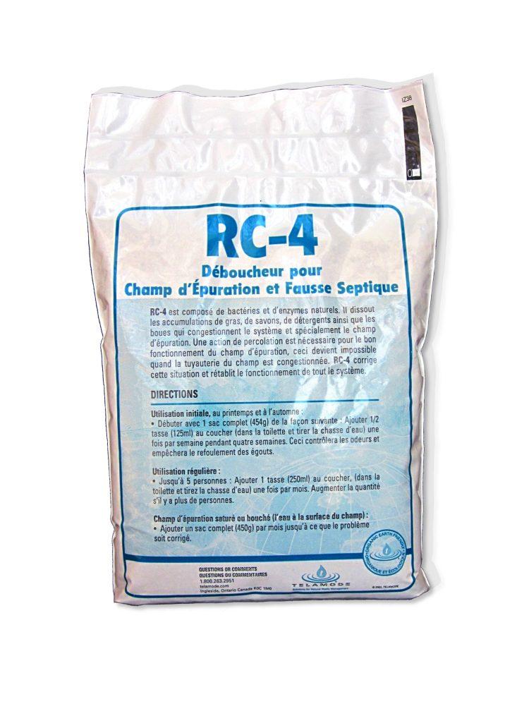 sac de RC-4, un produit qui contient des enzymes et bactéries pour fosse septique