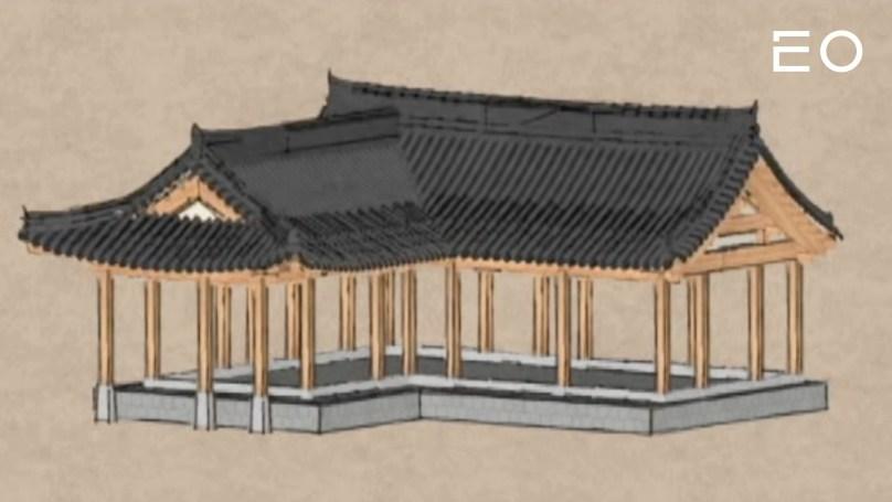 3D로 구현한 한옥의 모습