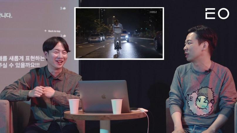 드라마 의 육성재 PPL 장면에 관해 이야기 나누는 EO 태용 대표와 플레이리스트 박태원 대표