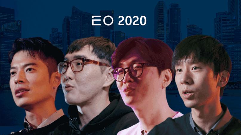 (왼쪽부터) 2020년 EO의 영상에 출연한 데일리호텔 신재식 창업자, 배달의민족 이동욱 리드 개발자, 영화번역가 황석희, 타다 박재욱 대표