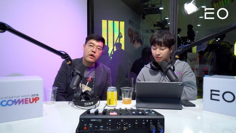 (왼쪽부터) 퓨처플레이 류중희 대표, EO 김태용 대표