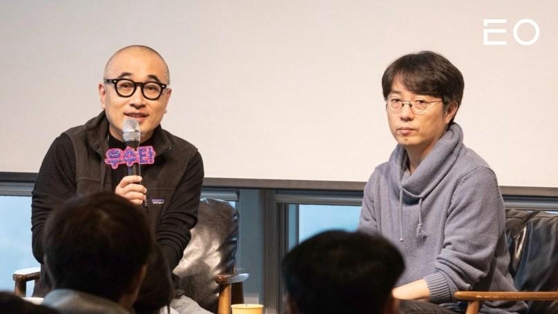 (왼쪽부터) 우아한형제들 김봉진 창업자, 김범준 대표