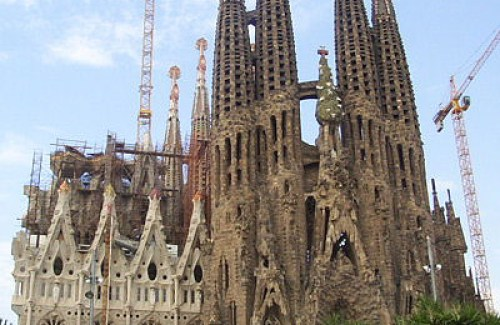 La Sagrada Familia in Barcelona, Spain ~ spectacular and  unfinished