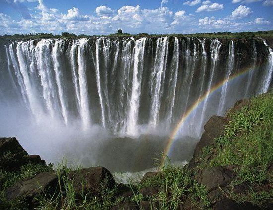 Rainbow over Victoria Falls, Zimbabwe by Zest_pk