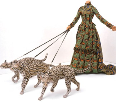 Leisure Lady with Ocelots