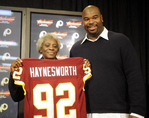 Albert Haynesworth and his mom Linda
