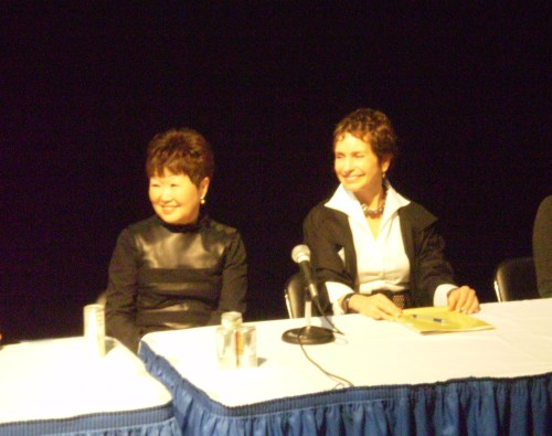 Barbara Adachi and Nancy Pedot as morning panelists