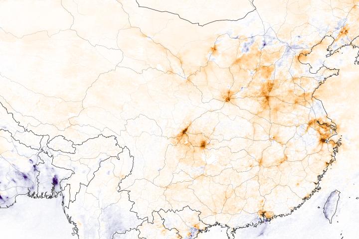 Nitrogen Dioxide Levels Rebound in China